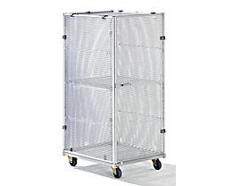 Aluminium-Rollbehälter - Sicherheitsausführung, HxBxT 1620 x 720 x 810 mm