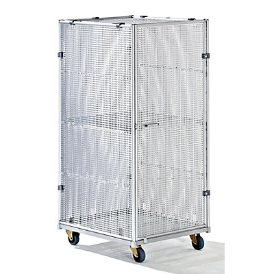 RIMO Aluminium-Rollbehälter - Sicherheitsausführung, HxBxT 1620 x 720 x 810 mm - Gewicht 40 kg