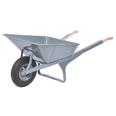 Winkeleisenschubkarre - mit pannensicherem Reifen - grau pulverbeschichtet