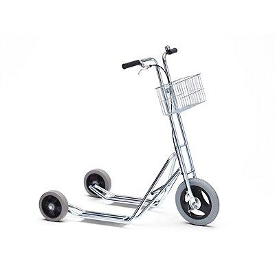 Roller MODELL 10 - 3 Räder, Klingel und Korb - Trommelbremse am Vorderrad