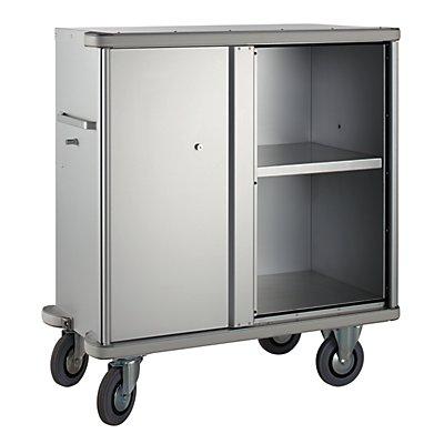 ZARGES Aluminium-Schrankwagen - Volumen 640 l - 1 Zwischenboden