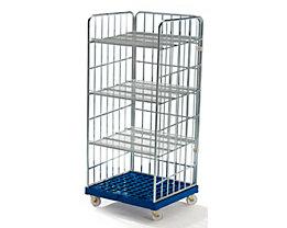 Rollregal - Kunststoff-Rollplatte - Platte dunkelblau