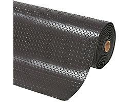 Anti-Ermüdungsmatte - pro lfd. m, PVC, schwarz - Breite 1220 mm