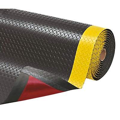 Anti-Ermüdungsmatte - pro lfd. m, PVC, schwarz / gelb
