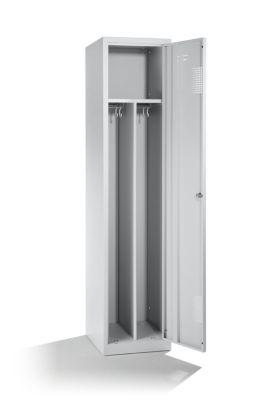 QUIPO Stahlspind - 1 Hutboden, 1 Mitteltrennwand, 2 Kleiderstangen