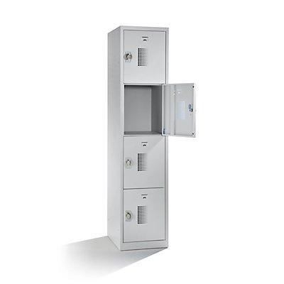 QUIPO Schließfachschrank - Breite 400 mm, 4 Fächer