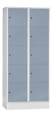 Schließfach-Garderoben-System - 10 Fächer, Fachbreite 400 mm