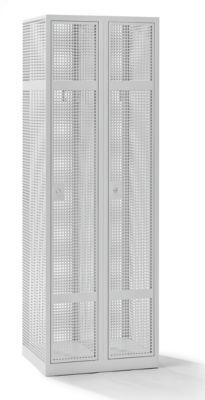 QUIPO Lochblechspind - Abteil 300 mm, 2 Fächer, Zylinderschloss