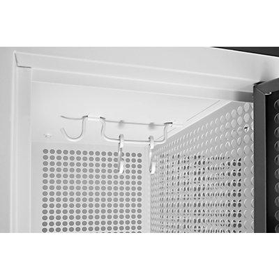 QUIPO Lochblechspind - Abteil 300 mm, 8 Fächer, Zylinderschloss