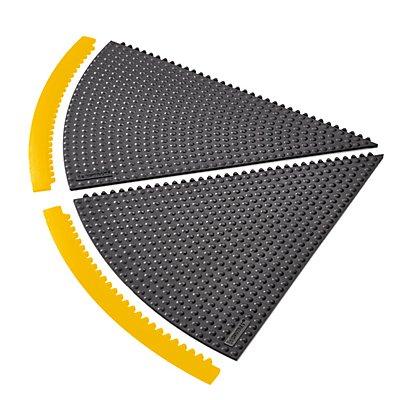 Système emboîtable en caillebotis - angle 45°, rayon 910 mm - noir