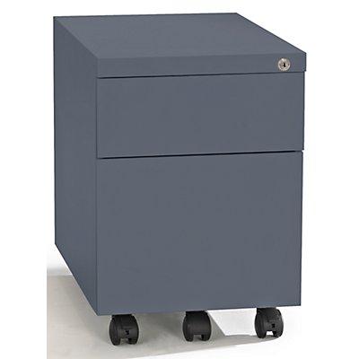 QUIPO Rollcontainer, Stahl - 1 Stiftschale, 1 Materialschub, 1 Hängeregistratur