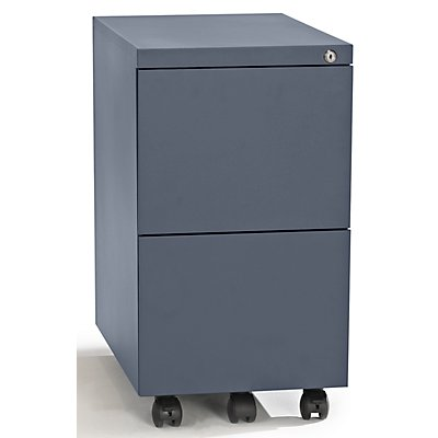 QUIPO Rollcontainer, Stahl - 2 Hängeregistraturen