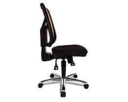 Topstar ARTWORK 20 SY – Bürodrehstuhl zweifarbig - ergonomisch geformt, individuell verstellbar - orange / schwarz