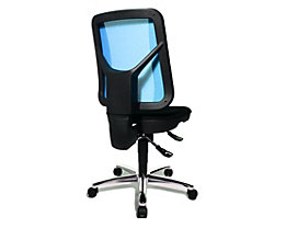 Topstar ARTWORK 20 SY – Bürodrehstuhl zweifarbig - ergonomisch geformt, individuell verstellbar - blau / schwarz