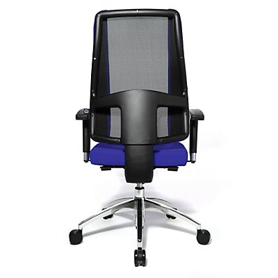 Topstar AIR SYNCRO – der flexible Drehstuhl - Rückenfläche in Netzoptik atmungsaktiv - schwarz / schwarz