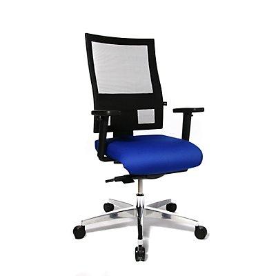 Topstar PROFI NET 11 Bürodrehstuhl - Rückenlehne in Netzbandoptik, mit Armlehnen
