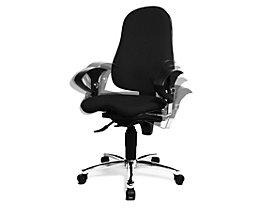 Topstar SITNESS 10 Bürodrehstuhl - Sitzfläche orthopädisch, inklusive Armlehnen - schwarz