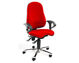 Topstar SITNESS 10 Bürodrehstuhl - Sitzfläche orthopädisch, inklusive Armlehnen - rot