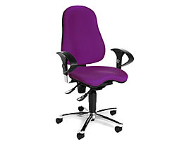 Topstar SITNESS 10 Bürodrehstuhl - Sitzfläche orthopädisch, inklusive Armlehnen - lila