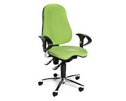 Topstar SITNESS 10 Bürodrehstuhl - Sitzfläche orthopädisch, inklusive Armlehnen - apfelgrün