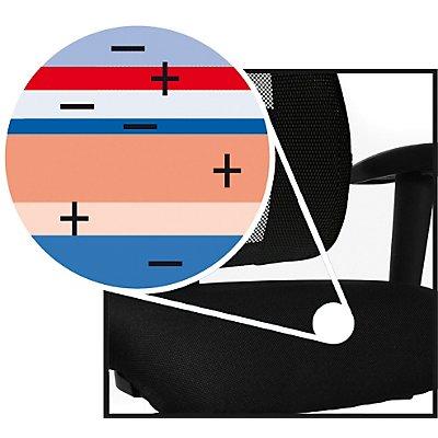 Topstar LADY SITNESS DELUXE Bürodrehstuhl - Sitzfläche beweglich mit sieben Zonen, inklusive Armlehnen - schwarz / schwarz