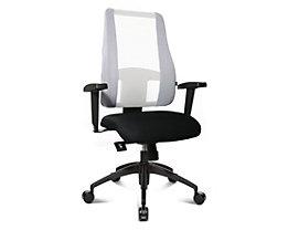 Topstar LADY SITNESS DELUXE Bürodrehstuhl - Sitzfläche beweglich mit sieben Zonen, inklusive Armlehnen - schwarz / weiß