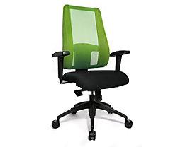 Topstar LADY SITNESS DELUXE Bürodrehstuhl - Sitzfläche beweglich mit sieben Zonen, inklusive Armlehnen - schwarz / grün