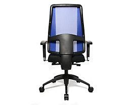 Topstar LADY SITNESS DELUXE Bürodrehstuhl - Sitzfläche beweglich mit sieben Zonen, inklusive Armlehnen - schwarz / blau