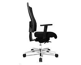 Topstar SITNESS 60 Bürodrehstuhl - mit atmungsaktiver Rückenlehne, inklusive Armlehnen - schwarz / schwarz