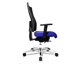 Topstar SITNESS 60 Bürodrehstuhl - mit atmungsaktiver Rückenlehne, inklusive Armlehnen - blau / schwarz