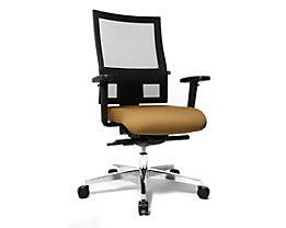 Topstar SITNESS 60 Bürodrehstuhl - mit atmungsaktiver Rückenlehne, inklusive Armlehnen - hellbraun / schwarz