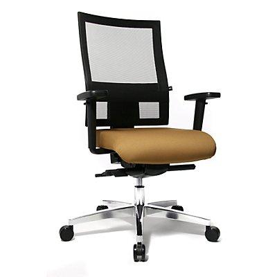 Topstar SITNESS 60 Bürodrehstuhl - mit atmungsaktiver Rückenlehne, inklusive Armlehnen - grün / schwarz