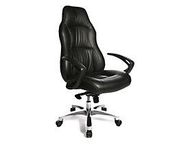 Chefsessel von Topstar in feinem Leder, mit extra breiter Sitzfläche und Komfort-Kopfstütze