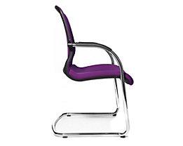 Topstar OPEN CHAIR– der Design-Besucherstuhl - Freischwinger mit Netzrücken, VE 2 Stk - violett
