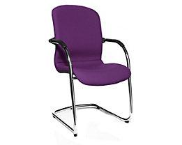 Topstar OPEN CHAIR– der Design-Besucherstuhl - Freischwinger gepolstert, VE 2 Stk - violett