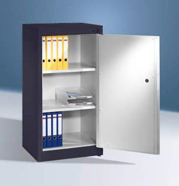 cp  CP Armoire de sécurité - 2 tablettes réglables - gris noir / gris clair... par LeGuide.com Publicité