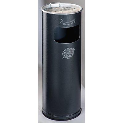 Combiné cendrier-poubelle avec cendrier à remplir de sable - hauteur 660 mm, Ø 230 mm