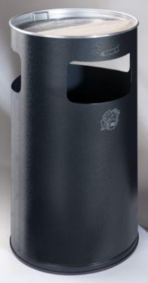 Kombiascher - rund, Stahlblech, Höhe 760 mm, Ø 420 mm