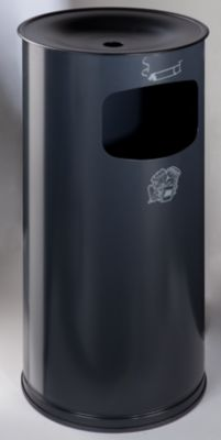 Sicherheits-Kombiascher, Stahlblech - Höhe 710 mm, Abfallvolumen 44 l
