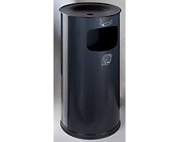Sicherheits-Kombiascher, Stahlblech - Höhe 710 mm, Abfallvolumen 44 l - anthrazit