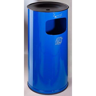 VAR Sicherheits-Kombiascher, Stahlblech - Höhe 710 mm, Abfallvolumen 44 l