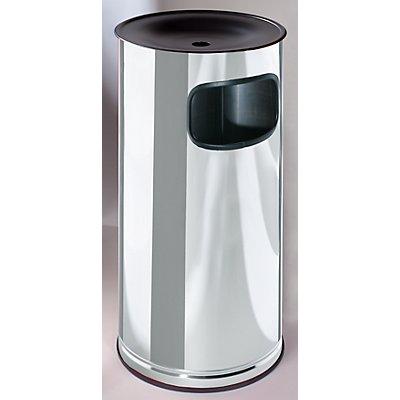 VAR Edelstahl-Standascher mit Abfallbehälter - Höhe 710 mm - Abfallvolumen 44 l
