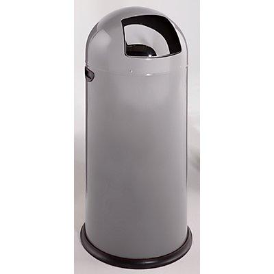 VAR Push-Abfallsammler - aus Stahlblech, mit 52 Liter Volumen