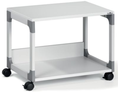 table pour imprimante et de rangement passe partout de durable 2 tablettes. Black Bedroom Furniture Sets. Home Design Ideas