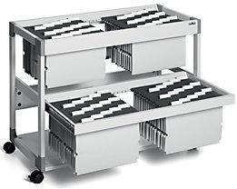 Hängemappenwagen MULTI DUO von Durable - für 200 Mappen, 2 Etagen mit Auszug