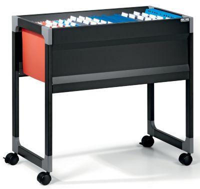 Hängemappenwagen von Durable - für 90 Mappen, 1 Etage - schwarz