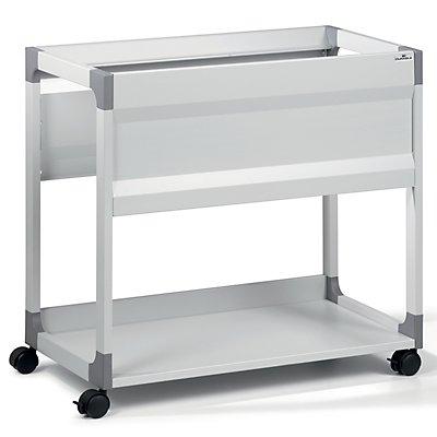Hängemappenwagen von Durable - für 90 Mappen, 1 Etage, 1 Ablageboden - lichtgrau