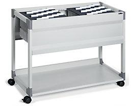 Hängemappenwagen von Durable - für 100 Mappen, 1 Etage, 1 Ablageboden