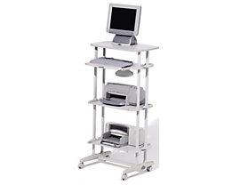 Table pour ordinateur VIRTUAL ALTA de Rocada - 4 tablettes, gris clair