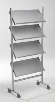 Prospektständer - Kapazität 12 x DIN A4 - alusilber